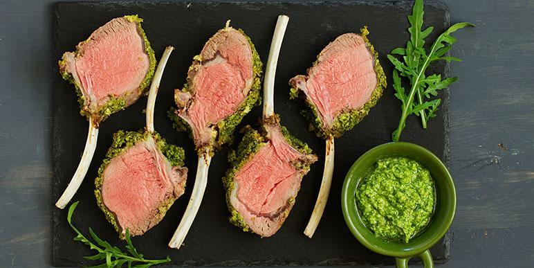 Rack of Lamb and Mint